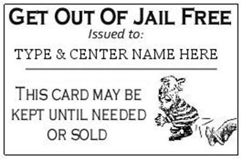 get out of free card monopoly template free card get out of free card template