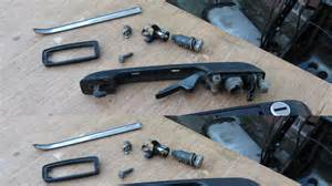 vw golf door lock repair replace outside door handle vw