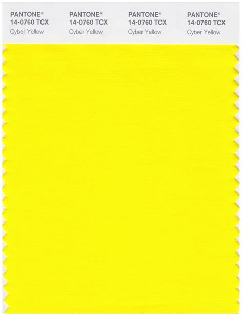 pantone smart   tcx color swatch card cyber yellow