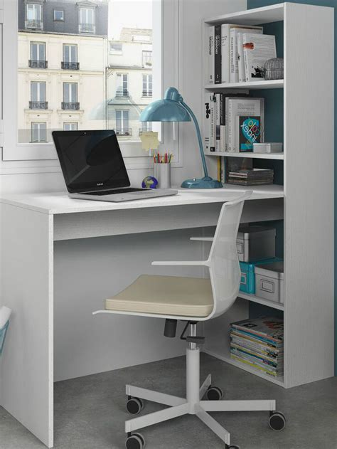 table l for study corner computer desk white home office furniture study