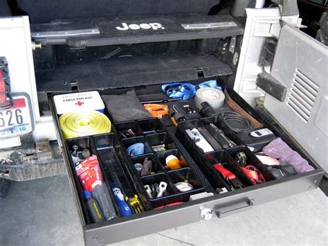 jeep wrangler storage ideas jeep tj storage solutions page 2 jeepforum com jeep