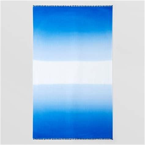 Pompom Trim Towel usa dip dye ombre pom pom trim towel
