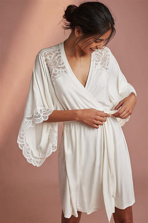 eberjey georgina jersey and lace robe xrl3oykd style bathrobes wrap yourself in comfortable style