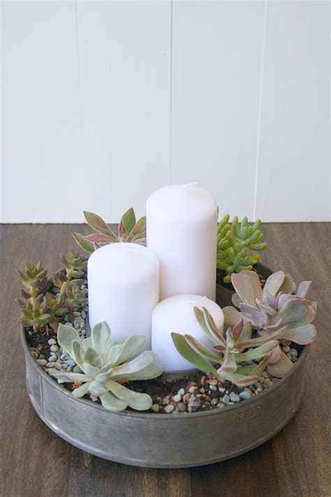 mural of centerpieces for table in everyday life succulents thrifty finds