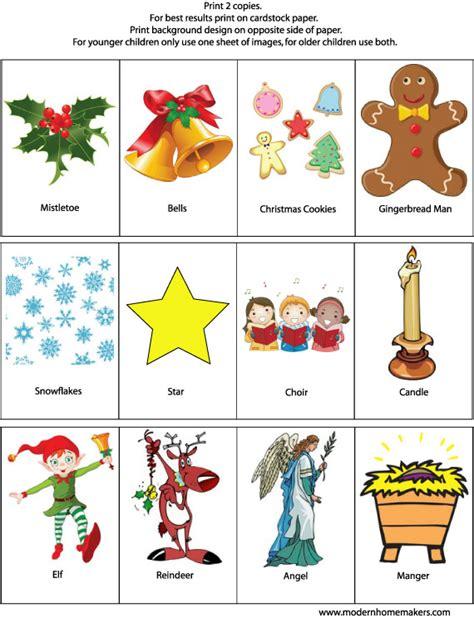 printable christmas memory games christmas memory game modern homemakers