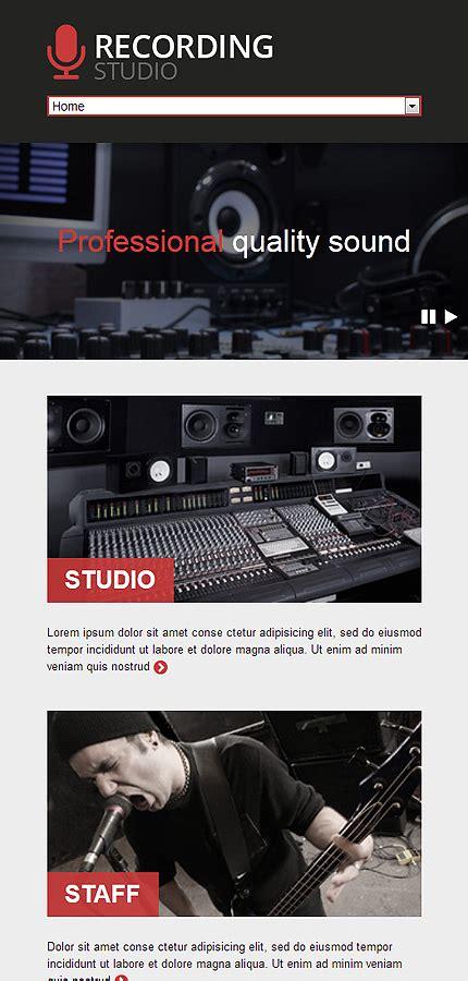 Recording Studio Responsive Website Template 46915 Studio Website Template