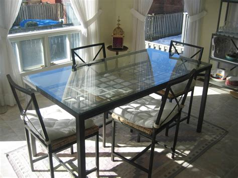 interesting glass kitchen table ideas as combination of