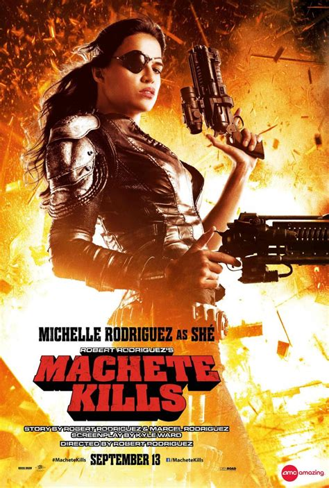 shes back hot photo of star actress mercy johnson after machete kills poster featuring michelle rodriguez as sh 233