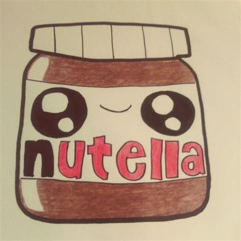 imagenes kawaii de nutella cute kawaii nutella drawing dibujos pinterest
