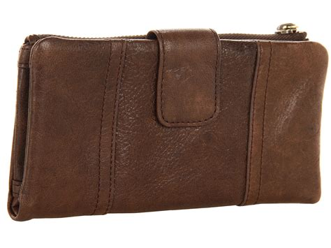 Dompet Fossil Emory Espresso Wallet fossil emory clutch in brown espresso lyst