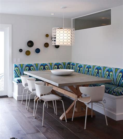 built in banquette dining room k