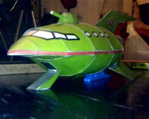 bongo papercraft planet express ship
