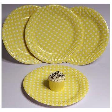 Piring Kue Motif Polkadot piring kertas kuning polkadot pestaseru toko grosir perlengkapan pesta