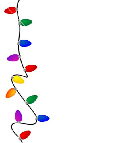 christmas lights vector free download
