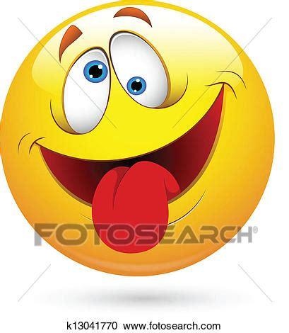 clipart divertenti clipart lingua fuori divertente smiley fronteggiano