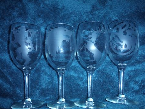 game of thrones wine glasses set of game of thrones wine glasses