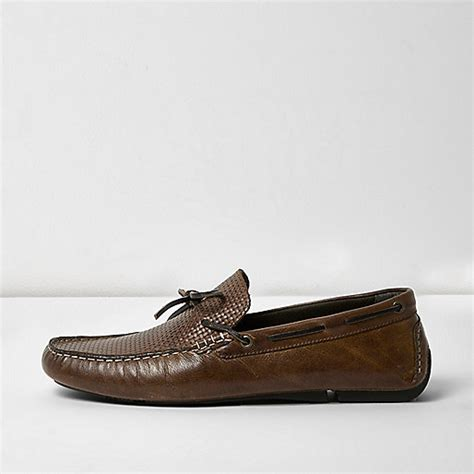brown leather driver shoes going out sale