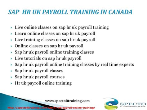 Sap Courses For Mba Hr by Sap Hr Uk Payroll In Usa