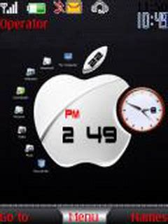 themes apple clock download apple dual clock nokia theme mobile toones