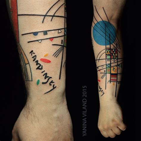 kandinsky tattoo kandinsky colorful abstraction arm best