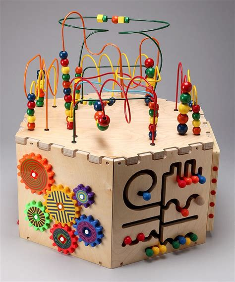 wooden bead maze anatex six sided play cube