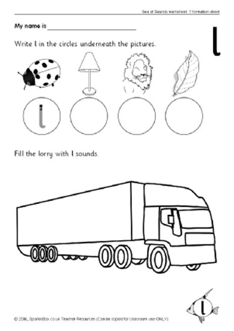 L Sound Worksheets by Letter L Phonics Activities And Printable Teaching