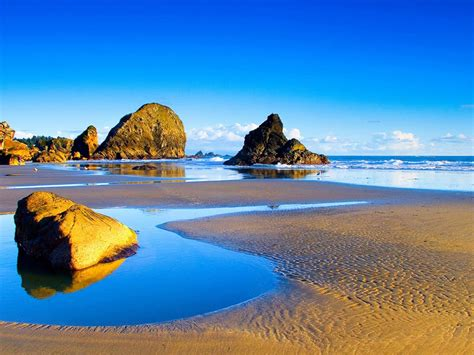 landscapes sandy beach rocks sea waves summer wallpaper hd