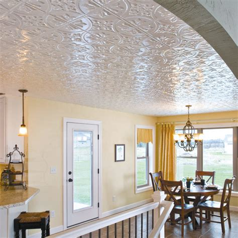 Faux Tin Ceilings by Fasade Faux Tin Ceiling Panels Traditional Dining Room