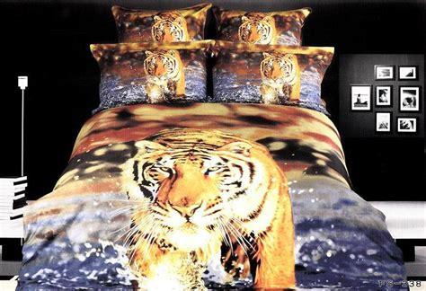 3d tijger blauw beddengoed dekbed set size sprei