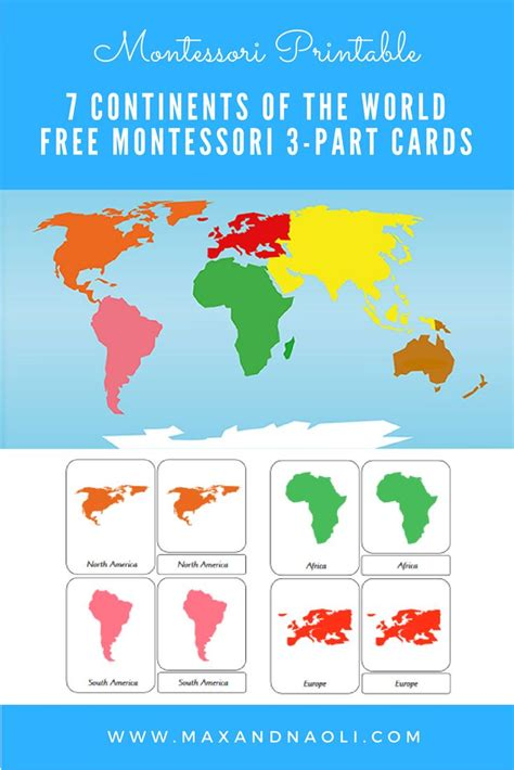 printable montessori world map 29 best montessori printables images on pinterest