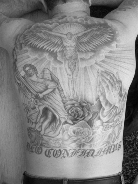 jesus cross tattoos on back 70 fabulous religious tattoos for back