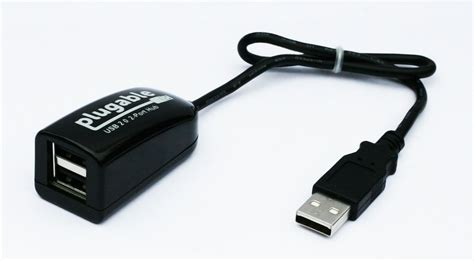 porte usb 2 0 plugable s new usb 2 0 2 port hub