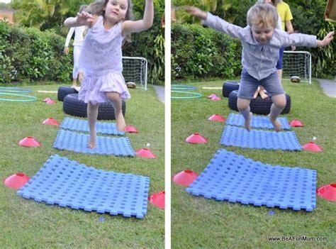 backyard obstacle    fun mum