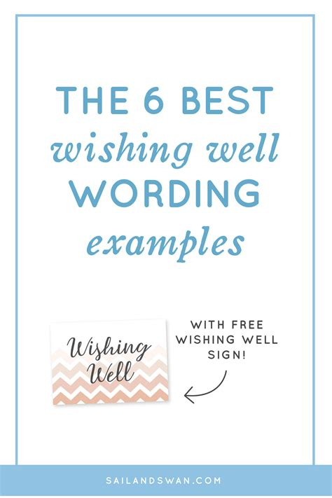 what to write on a wedding wishing well the 6 best wishing well wording exles wishing well