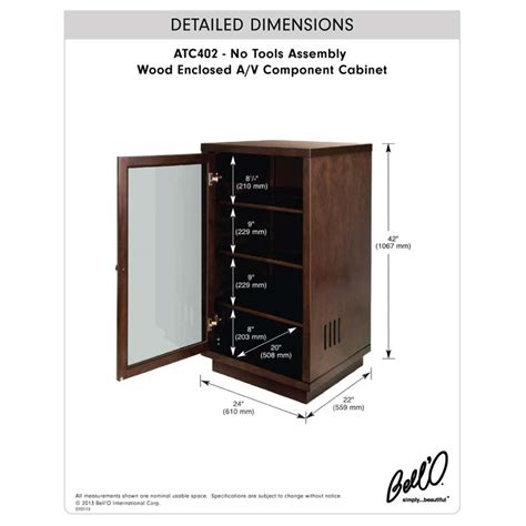 wood audio cabinets bello no tools assembly wood audio cabinet