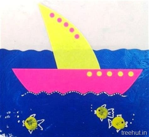 Paper Boat Craft For Preschoolers - paper boat craft for preschool