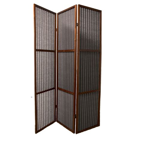 Rattan Room Divider Ore International N1007 3 Walnut 3 Panel Rattan Room Divider