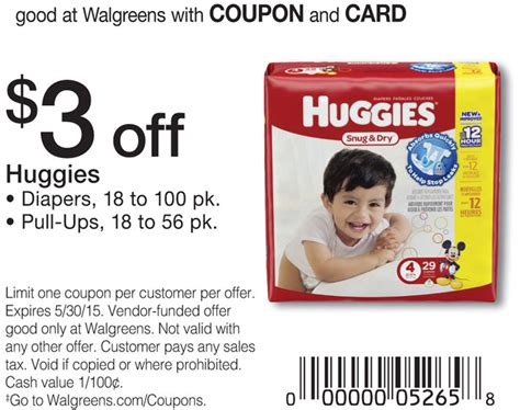 free printable diaper coupons 2015 huggies diapers coupon 11 99 at walgreensliving rich