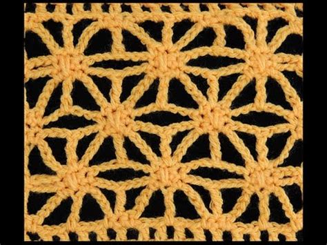 puntos de crochet estrella crochet punto estrella youtube
