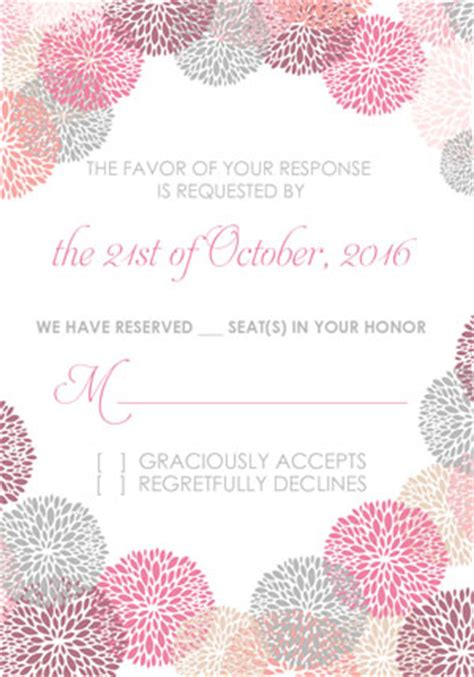 Wedding Invitation Template Works by Flower Works Wedding Invitation And Rsvp Set Wedding