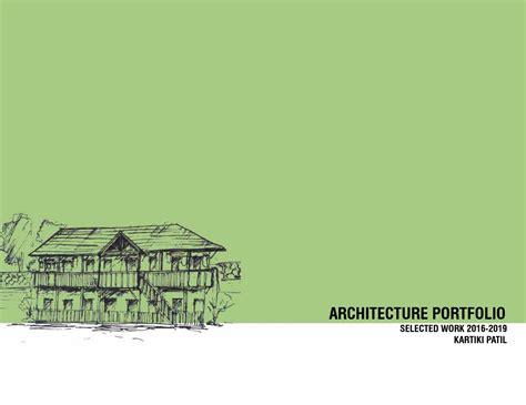 architectural portfolio kartiki patil  kartikipatil
