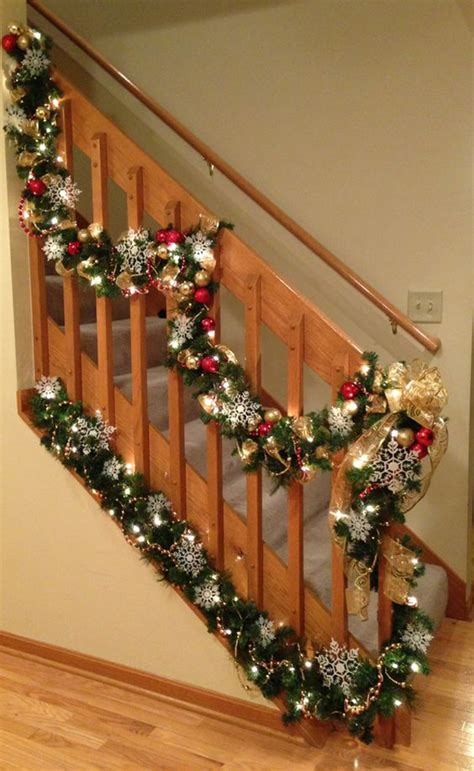 stair garland ideas 35 amazing staircase with banister ornaments home design and interior