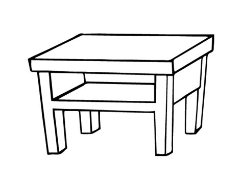 coloring table living room table coloring page coloringcrew