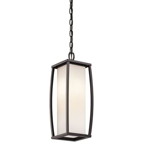 Contemporary Outdoor Pendant Lighting Kichler Lighting 49341az Bowen Modern Contemporary Outdoor Hanging Light Kch 49341 Az