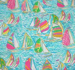 Lilly Pulitzer Authentic New Lilly Pulitzer Fabric 2012 Fall Multi You Gotta