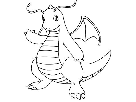 pokemon coloring pages dragonite image result for pokemon dragonite coloring pages