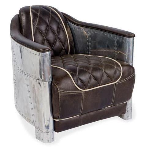 industrial armchair aarnio industrial loft aluminum espresso black leather arm