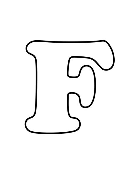printable hollow alphabet letters letter f free printable coloring pages