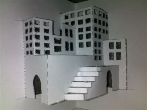 How To Make A Paper City - crafts 3d paper city by poohinme on deviantart