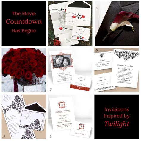 twilight wedding invitation the twilight countdown is on